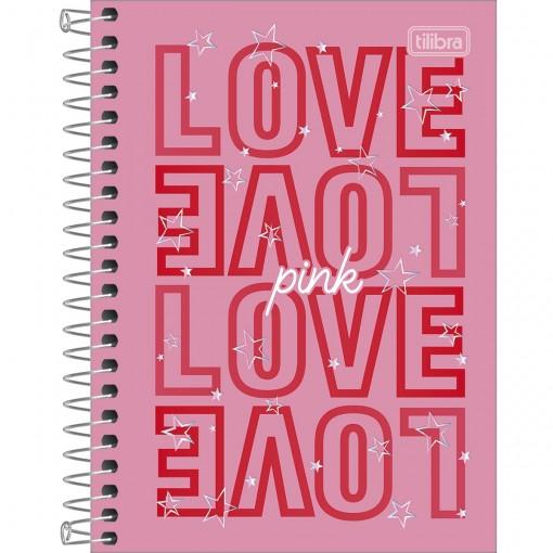Caderneta Capa Dura 1/8 Love Pink 80 Folhas (Pacote com 4 unidades) - Sortido