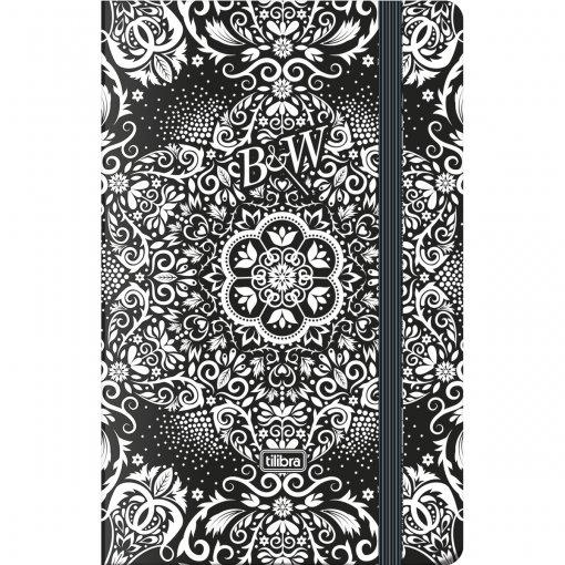 Caderneta Capa Dura Costurada Fitto B&W 80 Folhas