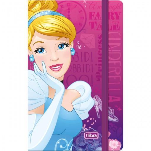 Caderneta Costurada Capa Dura Fitto Princesas 80 Folhas