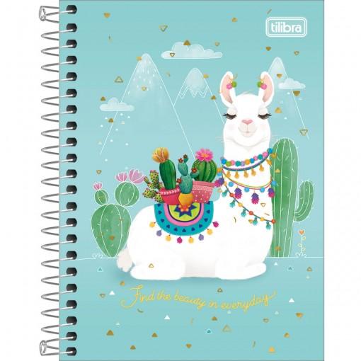Caderneta Espiral Capa Dura 1/8 Hello! 80 Folhas (Pacote com 4 unidades) - Sortido