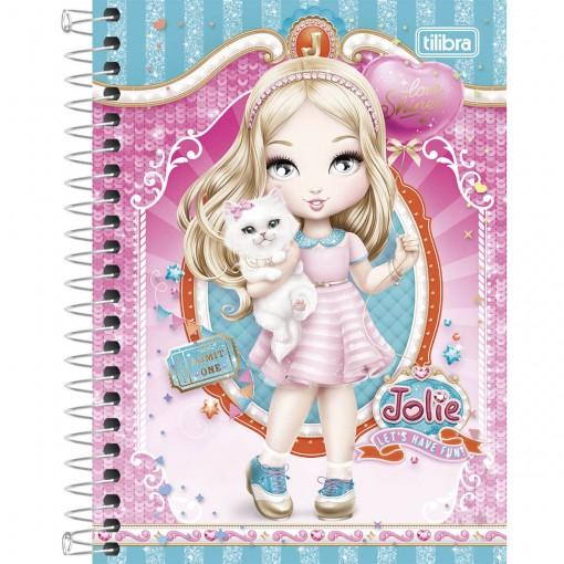Caderneta Espiral Capa Dura 1/8  Jolie 96 Folhas - Sortido (Pacote com 4 unidades)