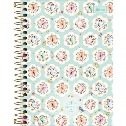 Caderneta Espiral Capa Dura 1/8 Jolie Classic 80 Folhas (Pacote com 4 unidades) - Sortido