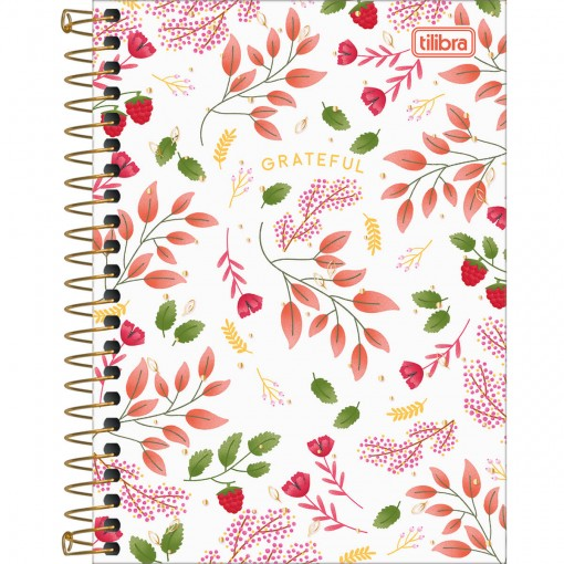 Caderneta Espiral Capa Dura 1/8 Le Vanille 80 Folhas (Pacote com 4 unidades) - Sortido