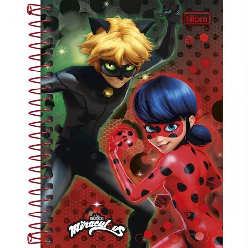 Caderneta Espiral Capa Dura 1/8  Miraculous: Ladybug 96 Folhas - Sortido (Pacote com 4 unidades)