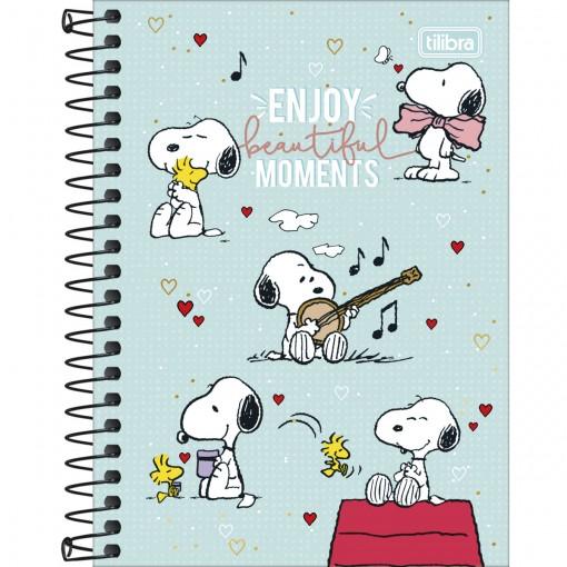 Caderneta Espiral Capa Dura 1/8 Snoopy 80 Folhas (Pacote com 4 unidades) - Sortido