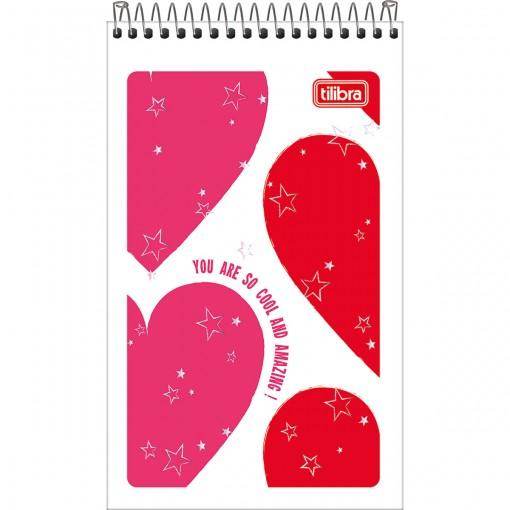 Caderneta Espiral Capa Flexível Love Pink 60 Folhas (Pacote com 20 unidades) - Sortido
