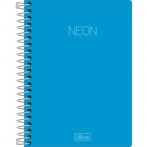 Caderneta Espiral Capa Plástica 1/8 sem Pauta Neon 80 Folhas (Pacote com 5 unidades) - Sortido