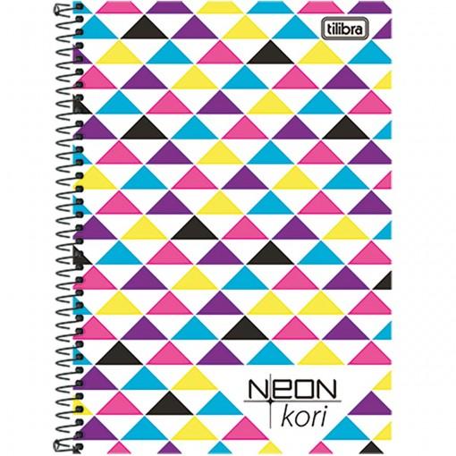 Caderneta Espiral Capa Plástica 1/8 Neon Kori 96 Folhas