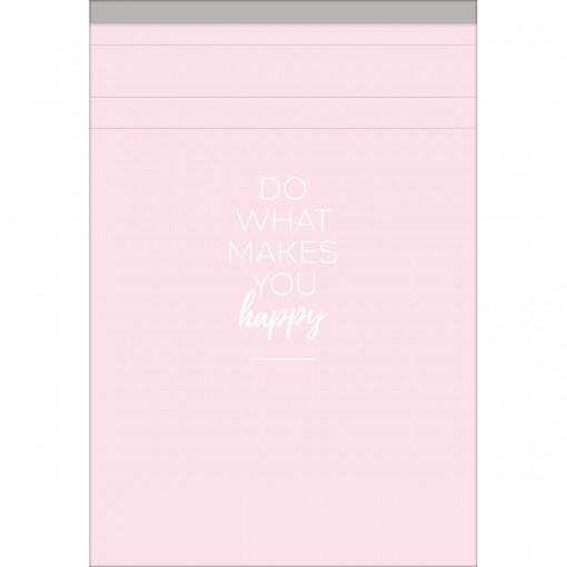 Caderneta Grampeada ao Alto M Happy 80 Folhas (Pacote com 5 unidades) - Sortido
