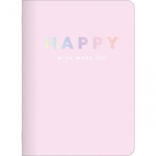 Caderneta Grampeada Happy 32 Folhas (Pacote com 5 unidades) - Sortido