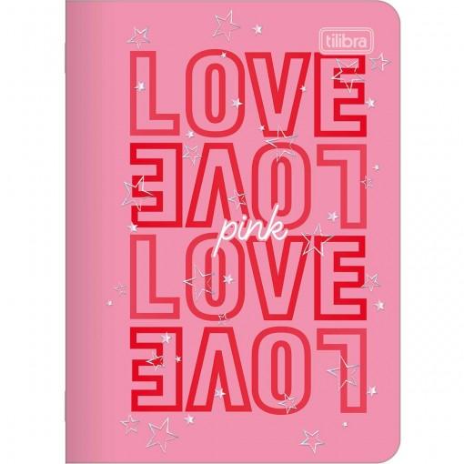 Caderneta Grampeada Love Pink 32 Folhas (Pacote com 5 unidades) - Sortido