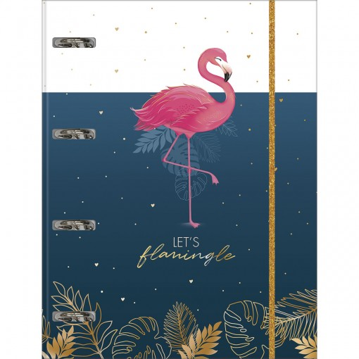 Caderno Argolado Cartonado Universitário com Elástico Aloha 80 Folhas