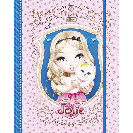 Caderno Argolado Universitário Cartonado com Elástico Jolie 80 Folhas