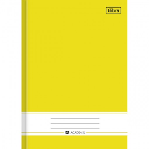 Caderno Brochura Capa Dura 1/4 Académie Amarelo 96 Folhas