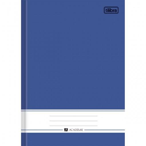 Caderno Brochura Capa Dura 1/4 Académie Azul 96 Folhas