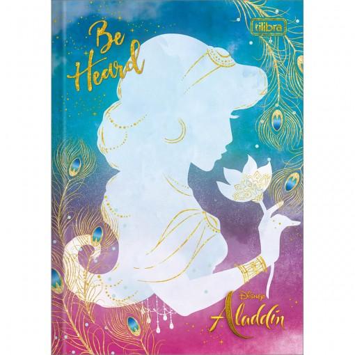 Caderno Brochura Capa Dura 1/4 Aladdin 80 Folhas (Pacote com 5 unidades) - Sortido