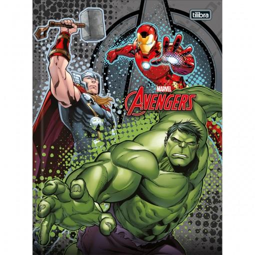 Caderno Brochura Capa Dura 1/4 Avengers 48 Folhas - Sortido (Pacote com 5 unidades)