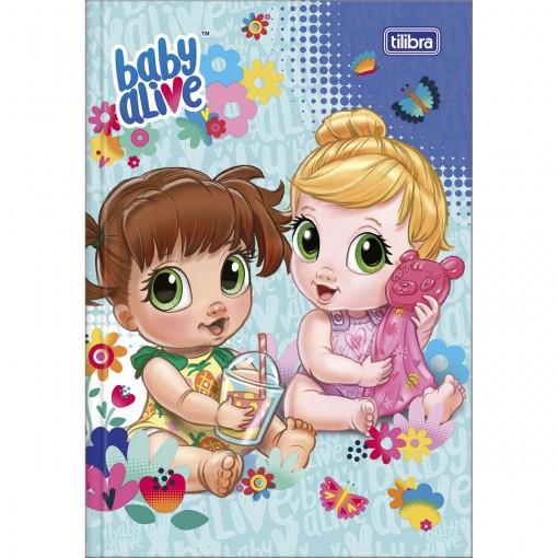 Caderno Brochura Capa Dura 1/4 Baby Alive 80 Folhas - Sortido