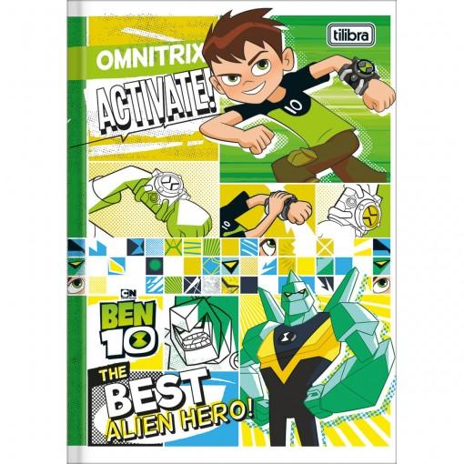 Caderno Brochura Capa Dura 1/4 Ben 10 96 Folhas (Pacote com 5 unidades) - Sortido