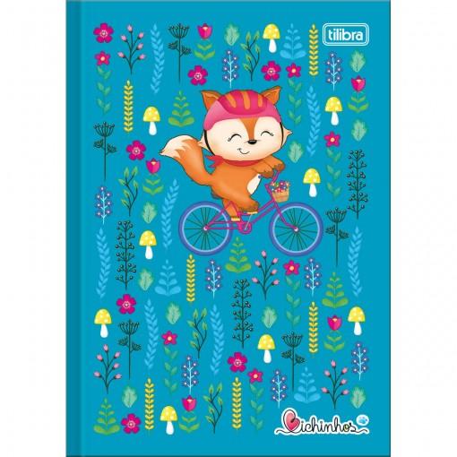 Caderno Brochura Capa Dura 1/4 Bichinhos 96 Folhas (Pacote com 10 unidades) - Sortido