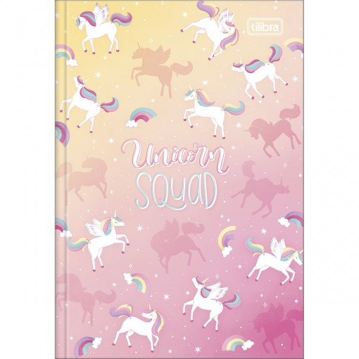 Caderno Brochura Capa Dura 1/4 Blink 80 Folhas - Unicorn Squad - Sortido