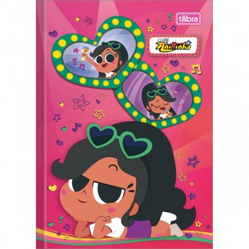 Caderno Brochura Capa Dura 1/4 Clube da Anittinha 80 Folhas (Pacote com 5 unidades) - Sortido