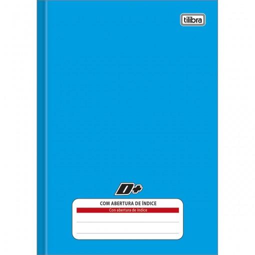 Caderno Brochura Capa Dura 1/4 com Índice D+ Azul 96 Folhas