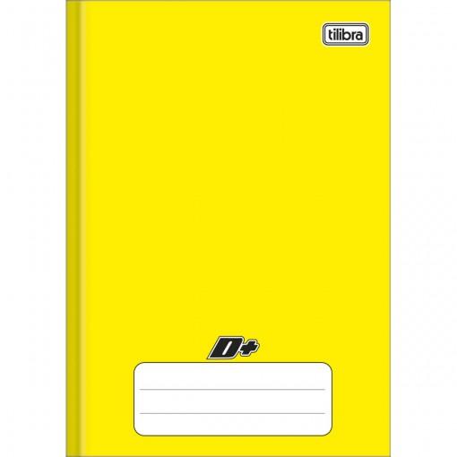 Caderno Brochura Capa Dura 1/4 D+ Amarelo 96 Folhas
