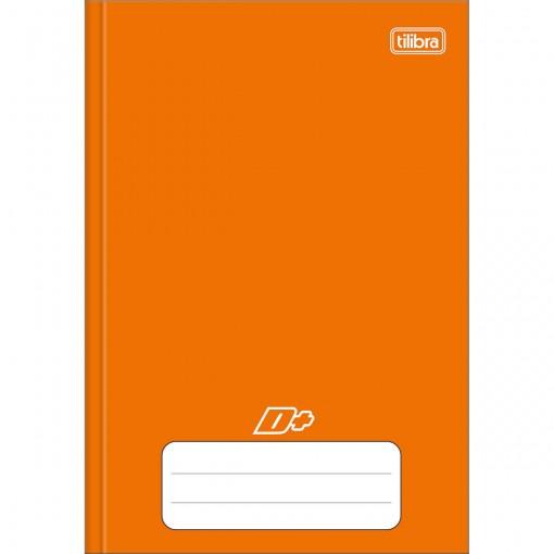 Caderno Brochura Capa Dura 1/4 D+ Laranja 48 Folhas