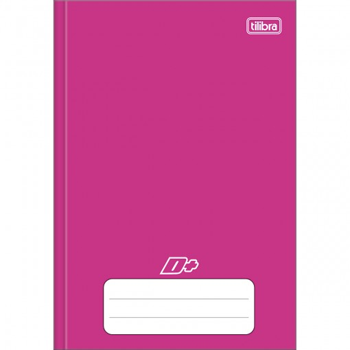 Caderno Brochura Capa Dura 1/4 D+ Rosa 48 Folhas