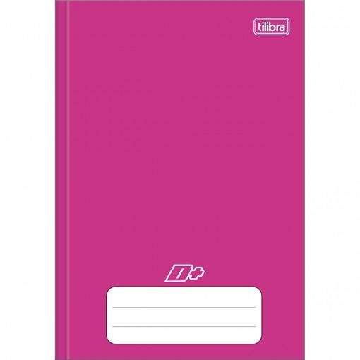 Caderno Brochura Capa Dura 1/4 D+ Rosa 96 Folhas