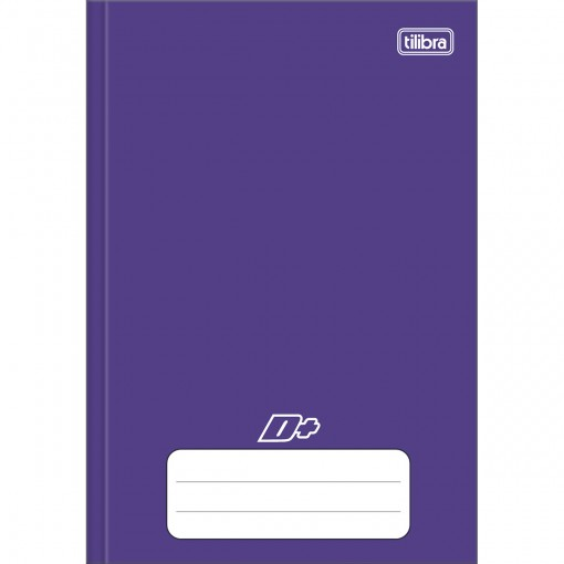 Caderno Brochura Capa Dura 1/4 D+ Roxo 96 Folhas