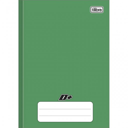 Caderno Brochura Capa Dura 1/4 D+ Verde 96 Folhas