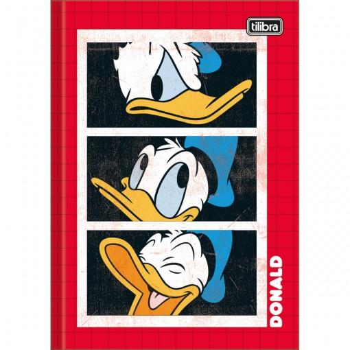 Caderno Brochura Capa Dura 1/4 Donald 80 Folhas (Pacote com 5 unidades) - Sortido