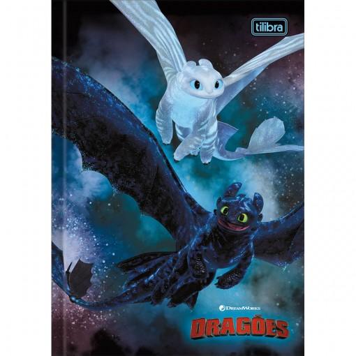 Caderno Brochura Capa Dura 1/4 Dragões 80 Folhas (Pacote com 5 unidades) - Sortido