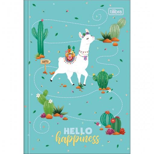 Caderno Brochura Capa Dura 1/4 Hello! 80 Folhas (Pacote com 5 unidades) - Sortido