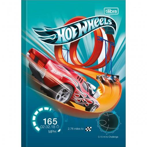 Caderno Brochura Capa Dura 1/4 Hot Wheels 48 Folhas (Pacote com 5 unidades) - Sortido