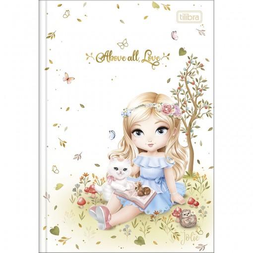 Caderno Brochura Capa Dura 1/4 Jolie 80 Folhas (Pacote com 5 unidades) - Sortido