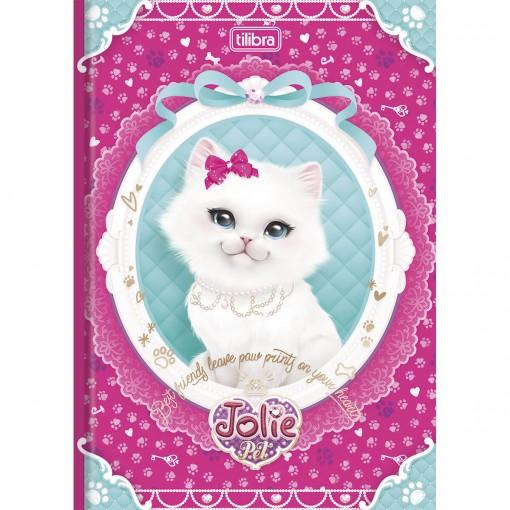 Caderno Brochura Capa Dura 1/4 Jolie Pet 96 Folhas (Pacote com 10 unidades) - Sortido