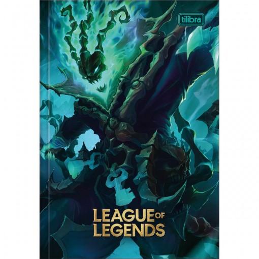 Caderno Brochura Capa Dura 1/4 League of Legends 80 Folhas (Pacote com 5 unidades) - Sortido
