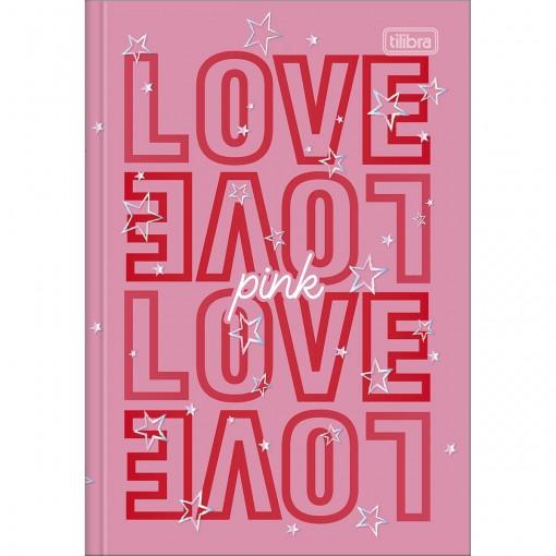 Caderno Brochura Capa Dura 1/4 Love Pink 80 Folhas (Pacote com 5 unidades) - Sortido