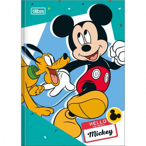 Caderno Brochura Capa Dura 1/4 Mickey 48 Folhas - Sortido (Pacote com 5 unidades)
