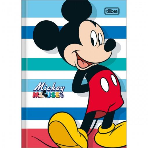 Caderno Brochura Capa Dura 1/4 Mickey 80 Folhas (Pacote com 5 unidades) - Sortido