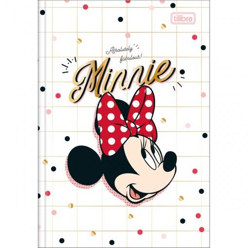 Caderno Brochura Capa Dura 1/4 Minnie 80 Folhas - Absolutely Fabulous Minnie - Sortido
