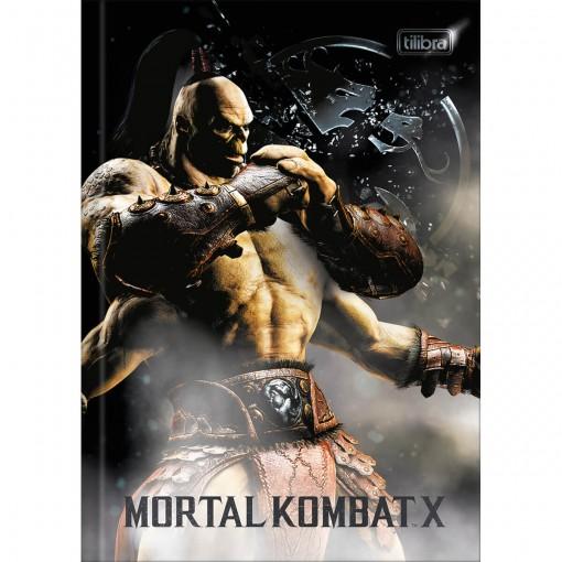 Caderno Brochura Capa Dura 1/4 Mortal Kombat 80 Folhas (Pacote com 5 unidades) - Sortido