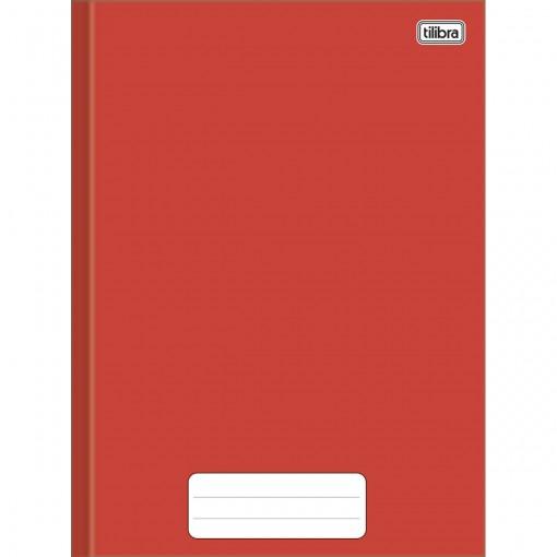 Caderno Brochura Capa Dura 1/4 Pepper Vermelho 40 Folhas