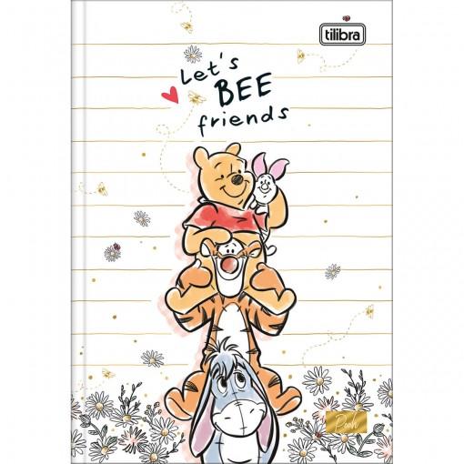 Caderno Brochura Capa Dura 1/4 Pooh 80 Folhas (Pacote com 5 unidades) - Sortido