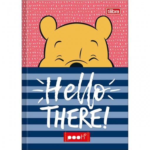 Caderno Brochura Capa Dura 1/4 Pooh 96 Folhas (Pacote com 5 unidades) - Sortido