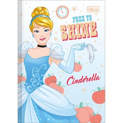 Caderno Brochura Capa Dura 1/4 Princesas 80 Folhas (Pacote com 5 unidades) - Sortido