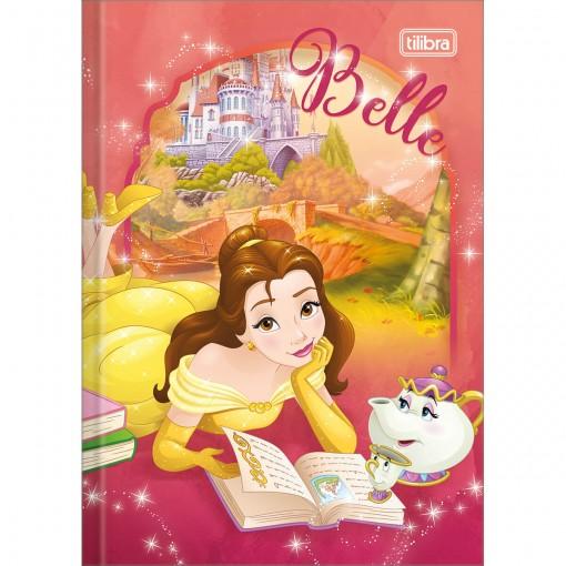 Caderno Brochura Capa Dura 1/4 Princesas 96 Folhas - Sortido (Pacote com 5 unidades)